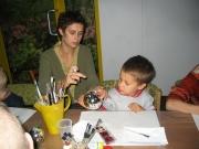 Imprezy okolicznościowe - Malowanie bombek w Ośrodku Fundacji z udziałem gwiazd